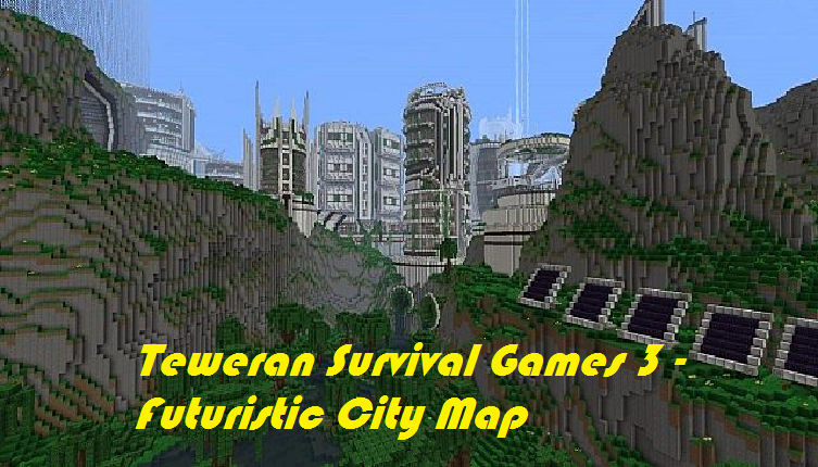Teweran Survival Games 3 - Futuristic City Map for Minecraft - File