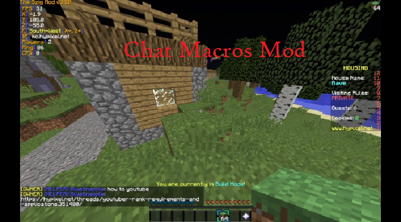 Chat Macros Mod for Minecraft - File-Minecraft com