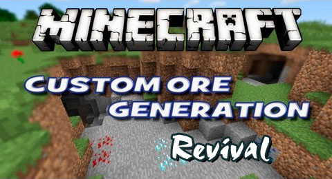 Custom Ore Generation Revival Mod 1.12.2/1.10.2/1.7.10/1.7.2