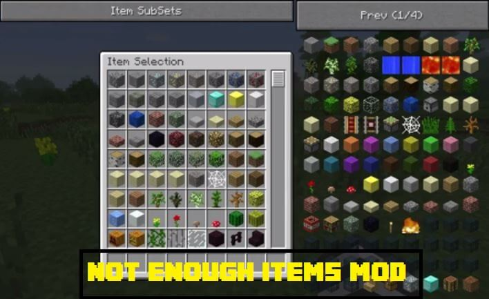 Not Enough Items Mod review