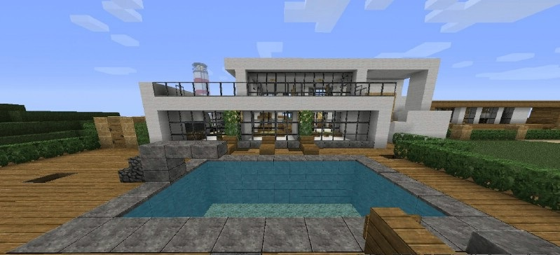 Minecraft modern house map 1 8 9 1 8 1 file for Modern house 8 part 10