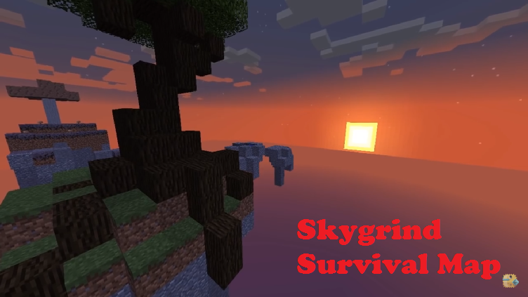 Skygrind survival map for minecraft file for Explore craft survival pe