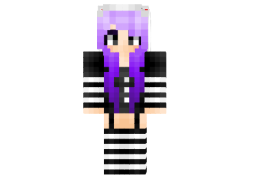 Mariote Hoodie Girl Skin FileMinecraft