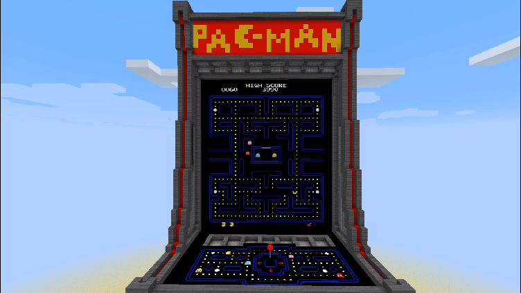 Minecraft Com The Game : Pacman map