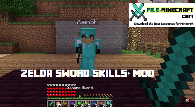 Minecraft Com The Game : Zelda sword skills mod