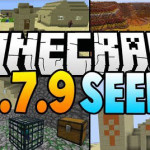 Mesa-biome-and-village-at-spawn-seed