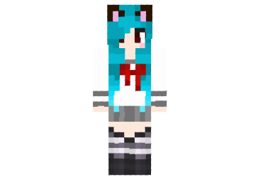 Kawaii Neko School Girl Skin FileMinecraftcom - Skin para minecraft pe kawaii